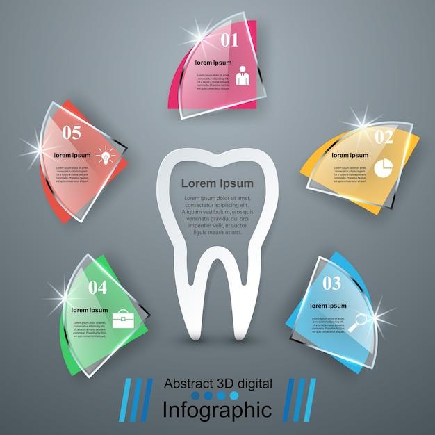 Infographie D'affaires. Icône De La Dent. Vecteur Premium