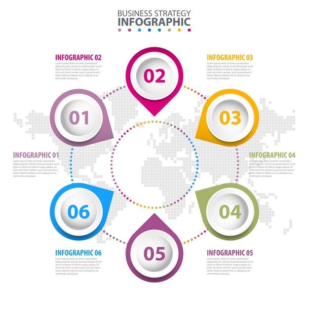 Infographie d'affaires Vecteur Premium