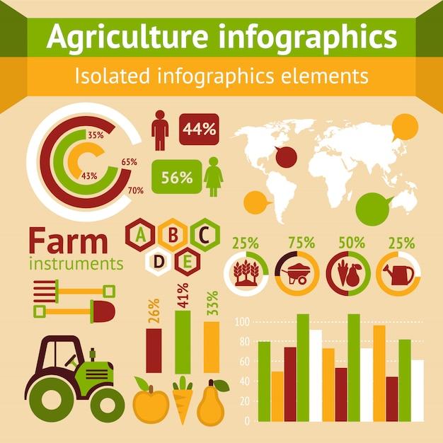 Infographie De L'agriculture Vecteur Premium