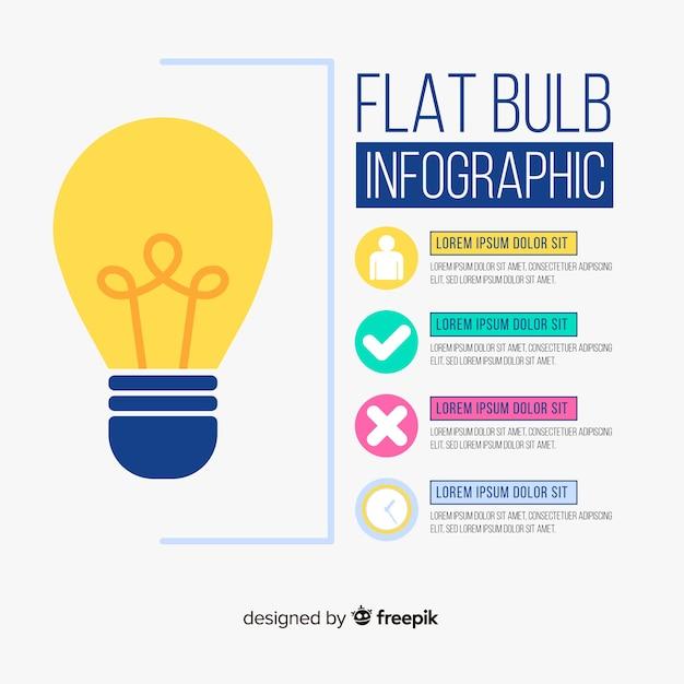 Infographie ampoule Vecteur gratuit
