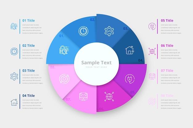 Infographie D'anneau Coloré Vecteur gratuit