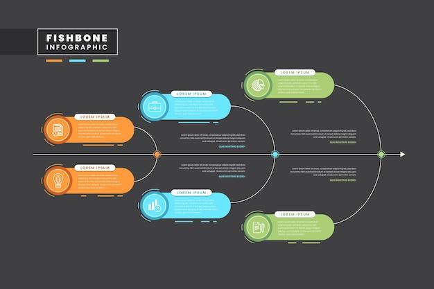 Infographie En Arête De Poisson Vecteur gratuit