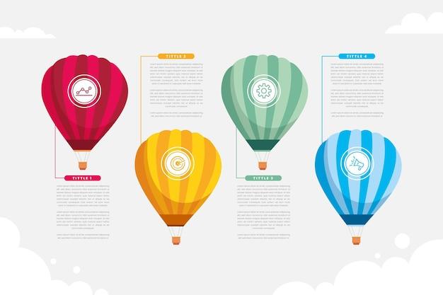 Infographie De Ballon Vecteur gratuit