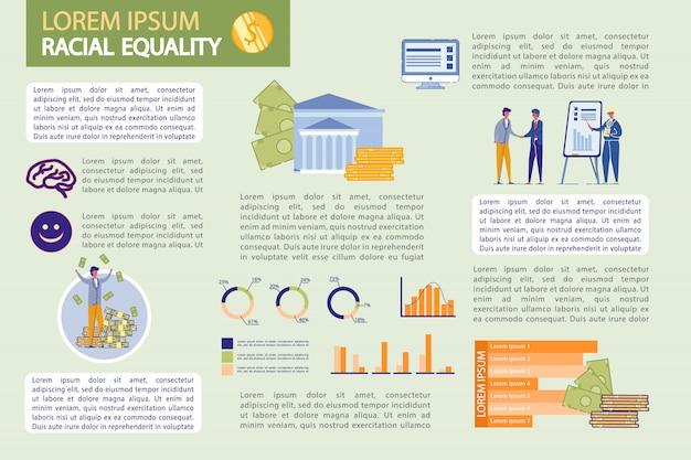 Infographie Bancaire Sertie De Gens D'affaires. Vecteur Premium