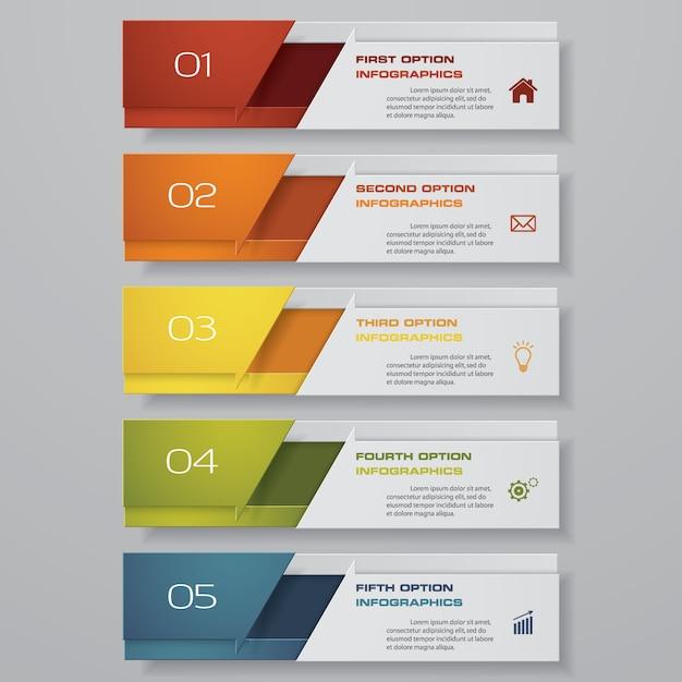 Infographie avec des bannières verticales Vecteur Premium