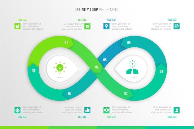 Infographie Avec Boucle Infinie Vecteur gratuit