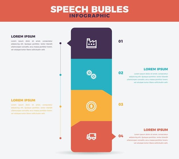 Infographie De Bulles Au Design Plat Vecteur gratuit