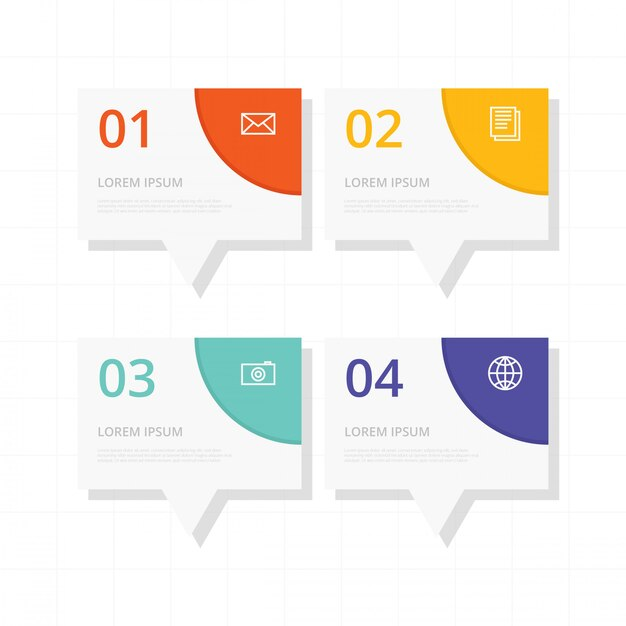 Infographie de calendrier plat Vecteur Premium