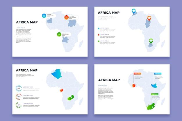 Infographie De Carte De Dégradé Afrique Vecteur gratuit