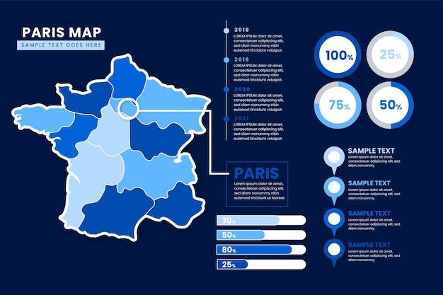 Infographie De La Carte Dégradé De Paris Vecteur gratuit