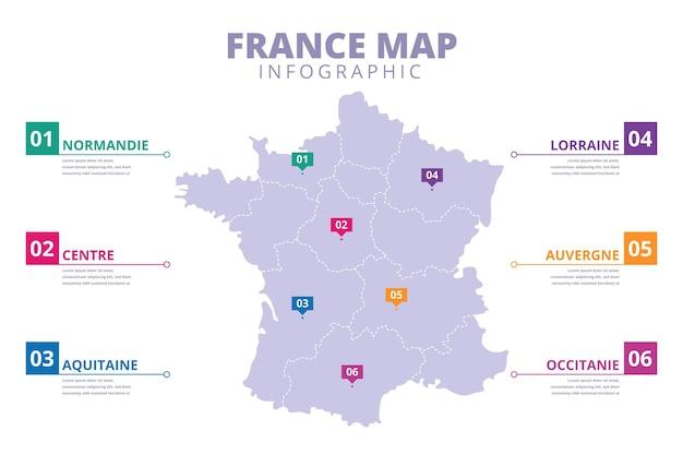 Infographie De Carte De France Dessinée à La Main Vecteur Premium
