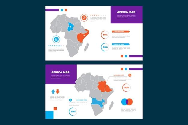 Infographie De La Carte Linéaire De L'afrique Vecteur Premium