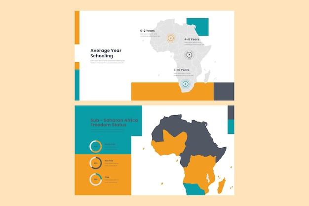 Infographie De La Carte Linéaire De L'asie Vecteur gratuit