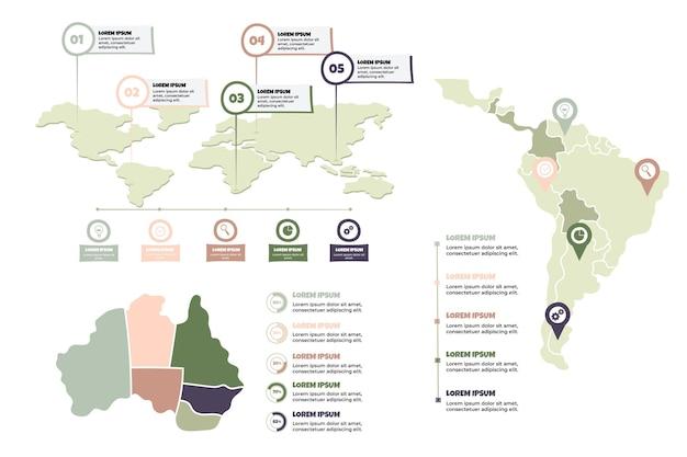 Infographie De Cartes Dessinées à La Main Vecteur gratuit