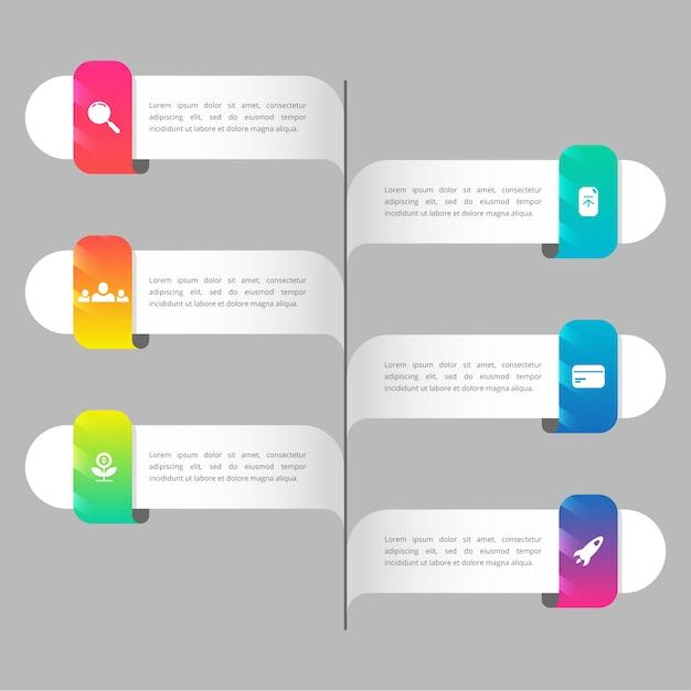 Infographie de chronologie de dégradé coloré Vecteur gratuit