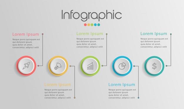 Infographie de la chronologie Vecteur Premium