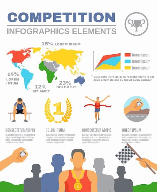 Infographie de compétition sportive Vecteur gratuit