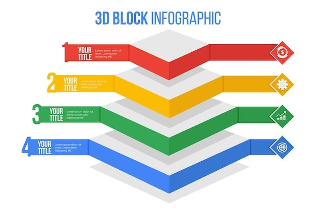 Infographie Des Couches De Blocs 3d Vecteur gratuit
