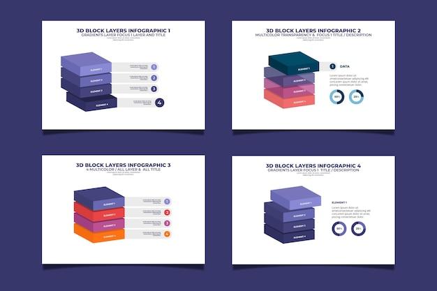 Infographie Des Couches De Blocs Vecteur gratuit