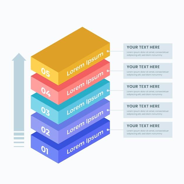 Infographie De Couches Tridimensionnelles Vecteur gratuit