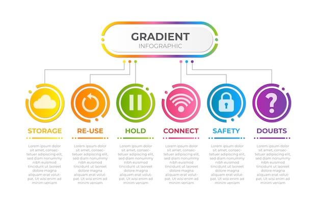 Infographie Dégradé Multicolore Vecteur gratuit
