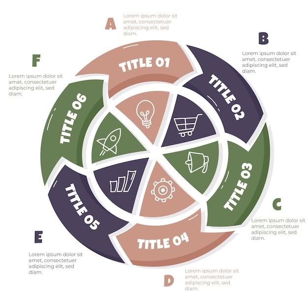 Infographie Du Cycle De Vie Du Projet Dessiné à La Main Vecteur gratuit