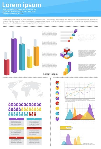 Infographie du diagramme de finances Vecteur Premium