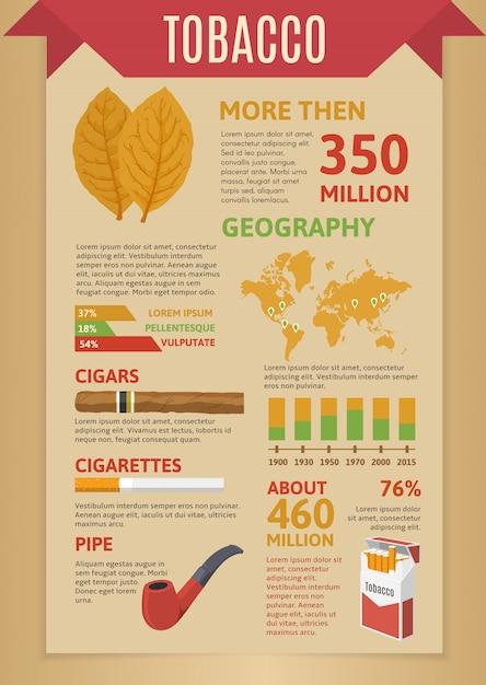 Infographie Du Tabac à Fumer Vecteur gratuit