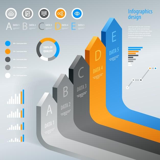Infographie. élément D'infographie De Flèche Moderne. . Vecteur Premium