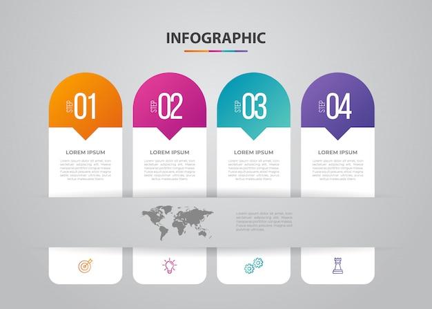 Infographie de l'entreprise. design minimaliste et plat. statistiques sur les entreprises Vecteur Premium