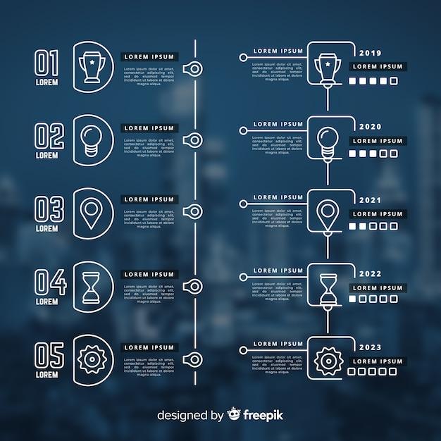 Infographie de l'entreprise avec image Vecteur gratuit