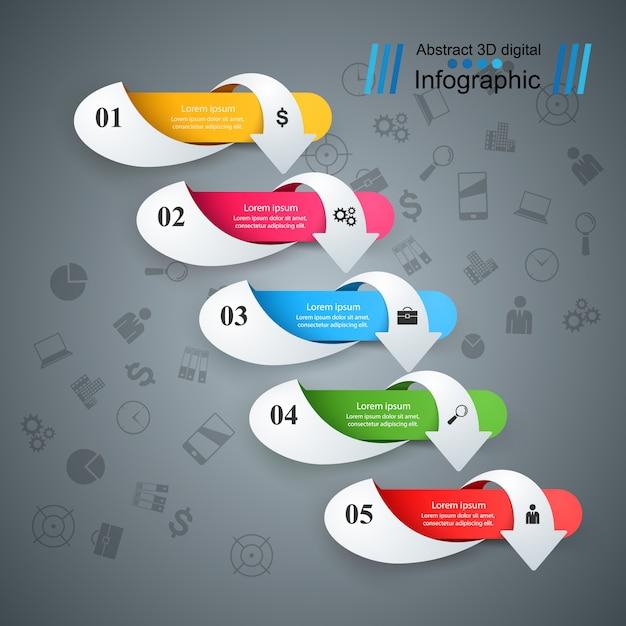 Infographie de l'entreprise Vecteur Premium
