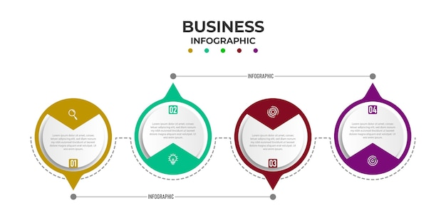 Infographie Des étapes De La Chronologie Circulaire Vecteur Premium