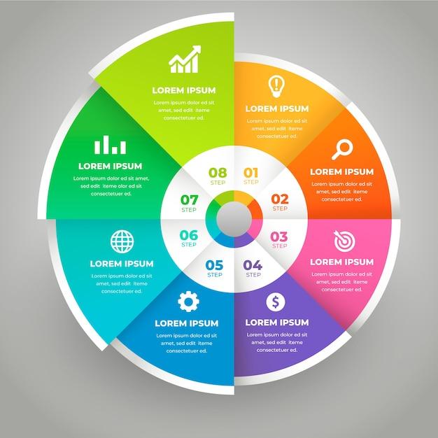 Infographie Des étapes Commerciales Vecteur gratuit
