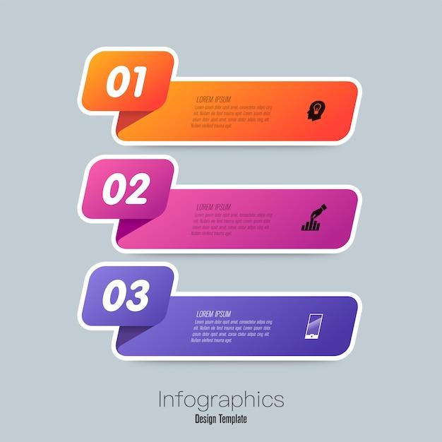 Infographie avec étapes et options Vecteur Premium