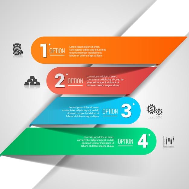 Infographie Finances financières Vecteur gratuit