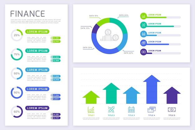 Infographie Des Finances Vecteur gratuit