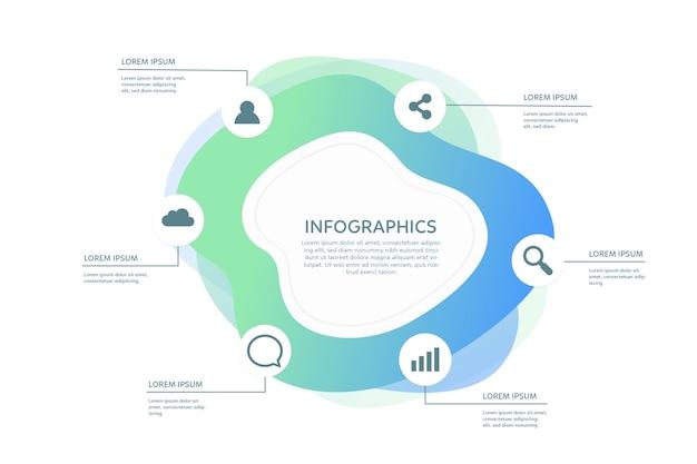 Infographie De Forme Abstraite Dégradé Vecteur gratuit