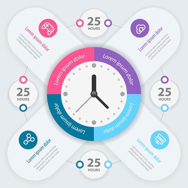 Infographie. Gestion Du Temps. Vecteur Premium