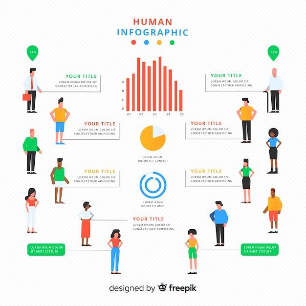 Infographie humaine Vecteur gratuit