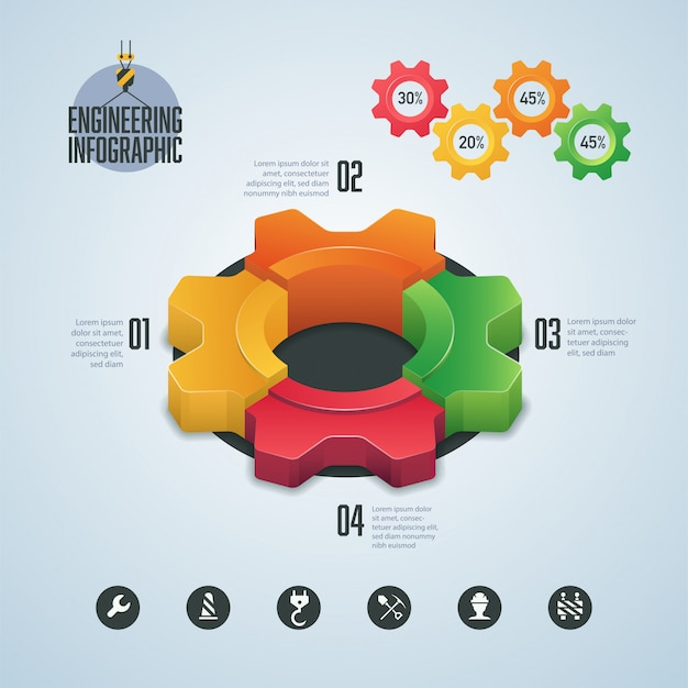 Infographie De L'ingénierie Vecteur Premium
