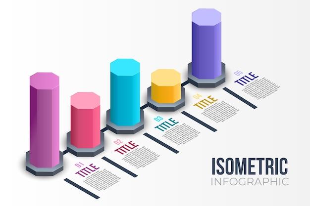 Infographie Isométrique Vecteur gratuit