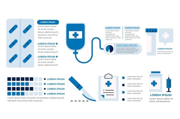 Infographie De Médecine Design Plat Vecteur gratuit