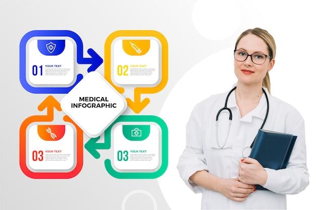 Infographie Médical Avec Photo Vecteur gratuit