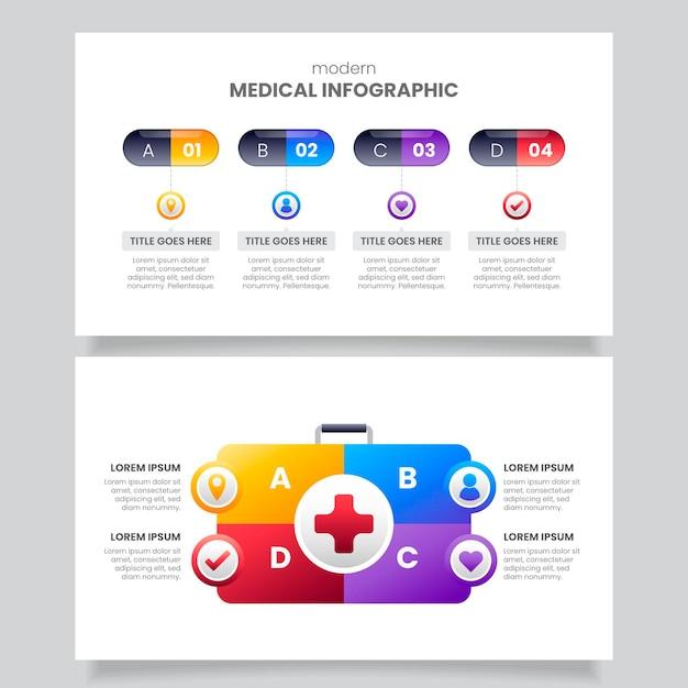 Infographie Médicale Dégradée Vecteur gratuit