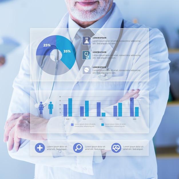 Infographie Médicale Avec Image Vecteur gratuit