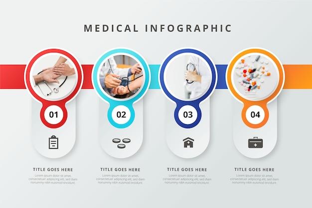 Infographie Médicale Avec Photo Vecteur Premium