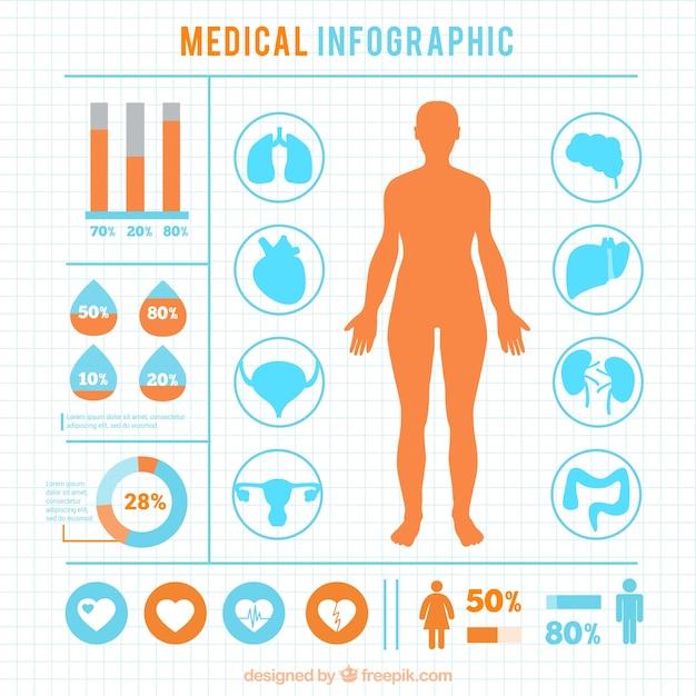 Infographie médicale Vecteur gratuit