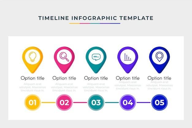 Infographie De Modèle De Chronologie Commerciale Vecteur gratuit