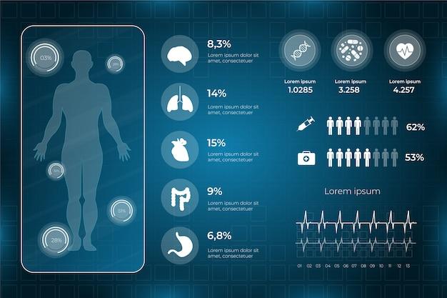 Infographie de modèle de santé médical Vecteur gratuit